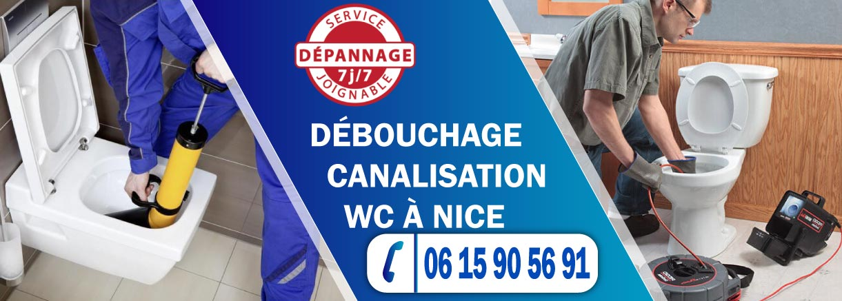 Débouchage canalisation WC Nice